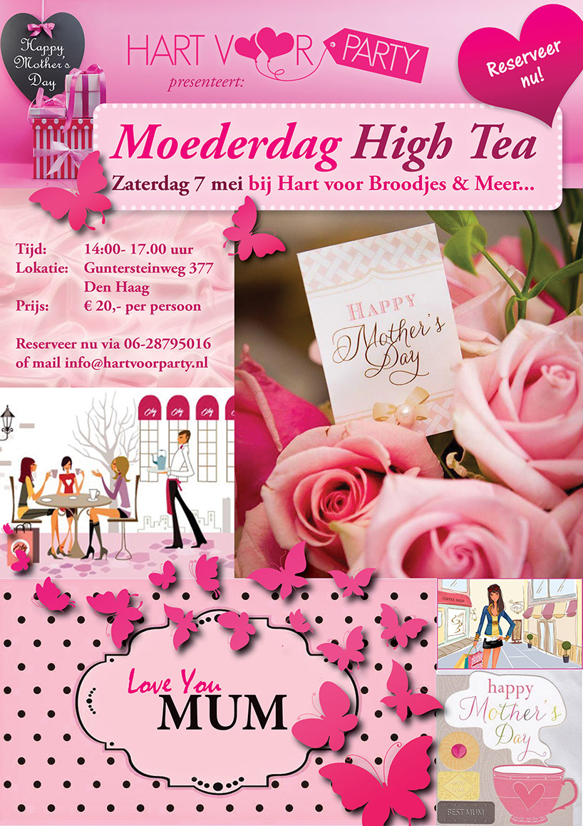 Flyer Moederdag High-Tea buffet